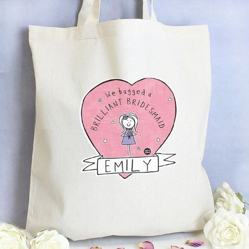 Personalised Purple Ronnie Female Wedding Tote Bag